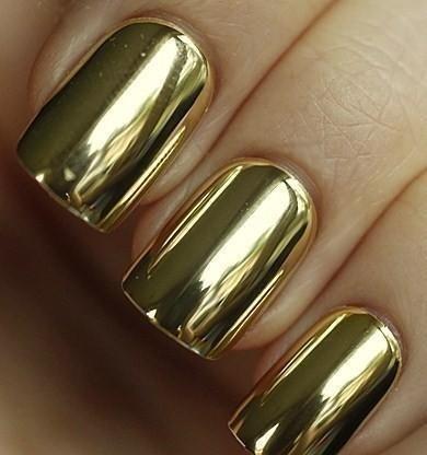 esmalte uñas dorado missenplis