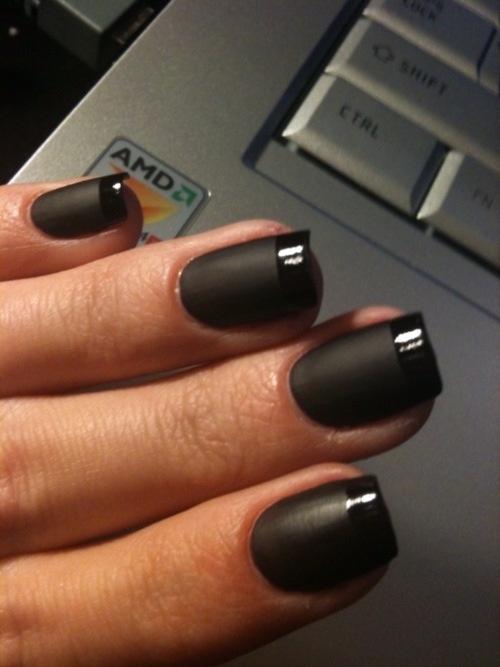 mate brillo negro esmalte de uñas missenplis