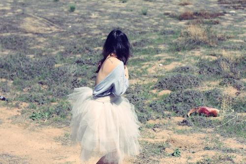 falda tul escote espalda missenplis