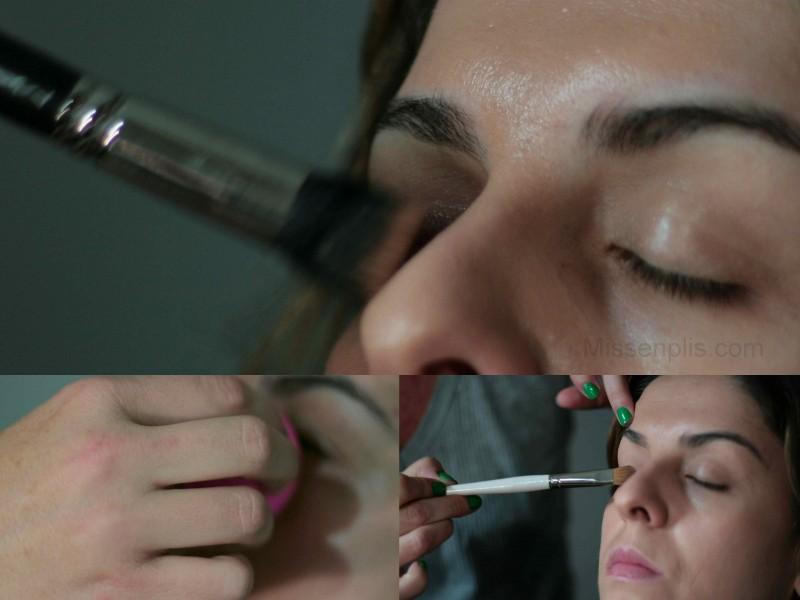 preparacion de piel y parpado para el paso a paso de pigmento de inglot missenplis